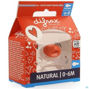 Difrax Sucette Natural 0-6m I Love