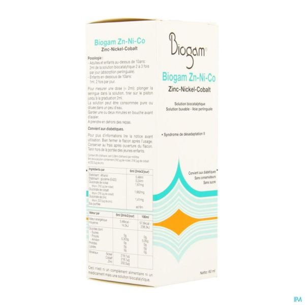 Biogam Zn-ni-co Fl 60ml