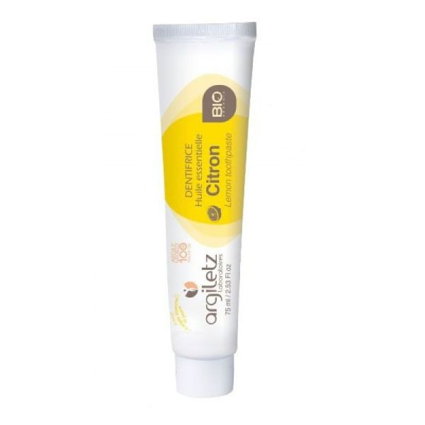 Argiletz dentifrice citron bio tube 75ml